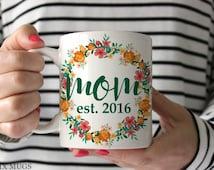 Mom Mug, New Mom Mug, Mugs for Mom, New Mom Gift, Mothers Day Gifts, New Baby Gift, Mom Gifts, Baby Shower Gift, Mother Gift, Tea Mug Q4911