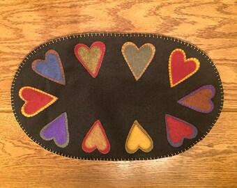 Double Heart Center Mat