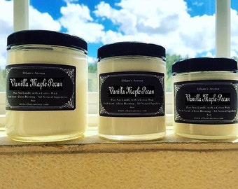 Vanilla Maple Pecan | Scented Soy Candle | 9oz | 6oz | 4oz | Ethan's Aroma | Christmas Gift | Housewarming Gift