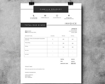 receipt template | etsy, Invoice templates