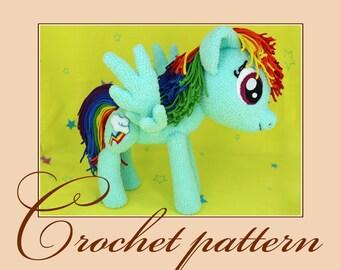 Rainbow Dash-Amigurumi Crochet Pattern PDF file by Anna Sadovskaya