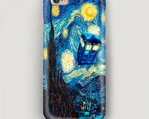 Van Gogh iPhone 6 Plus Case, Blue iPhone 6 Case, Art iPhone 5s Case, iPhone 5c Case, iPhone 4 Case, Tardis