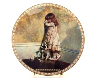 """Royal Doulton The Original """"In Disgrace"""" A Victorian Childhood Collectors Plate Number 203A First Issue"""