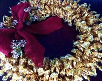 Seasonal Candy Caramel Wreath.