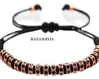 Simple crystal charm bracelet