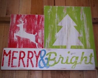 Merry&Bright Wood Decor