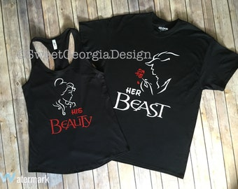 His Beauty and Her Beast Couple Shirts! Perfect for any couple!