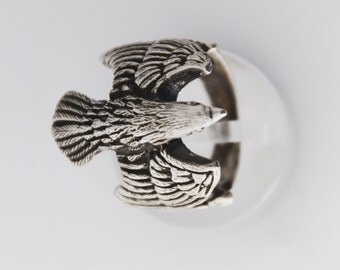 Sterling Eagle ring, eagle jewellery, Eagle men ring, Mens eagle ring, Eagle head ring, Mens Eagle Ring, Silver Eagle Ring