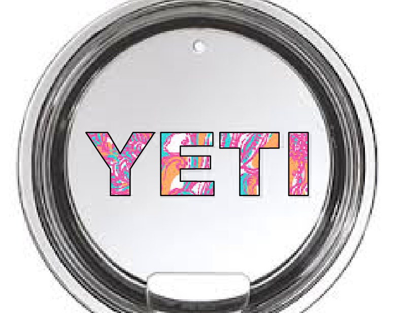Yeti letter decals for yeti cups for Letter decals for cups