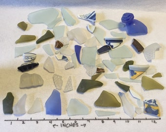 Sea Glass and Pottery