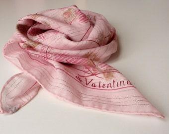 Silk Scarf in Pink