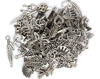 100 DIY Mix Tibetan Silver Charm