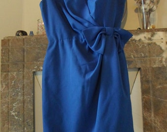fifties blue dress