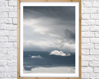 Print photography Clouds, printable art, digital download, instant art, Modern wall decor