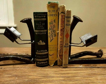 Antique Railroad Spike Bookends