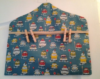 Peg bag in a funky car and campervan fabric