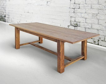 Dining Table, Table, Reclaimed Wood, Trestle Table, Handmade, Rustic