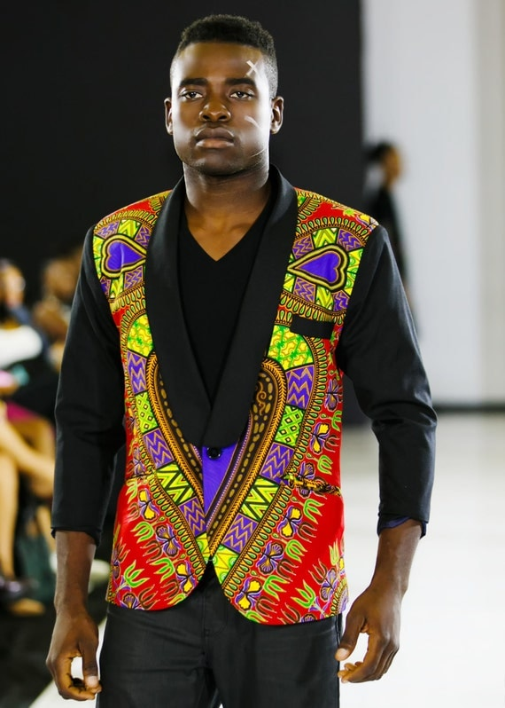 Man's Heart Dashiki Blazer