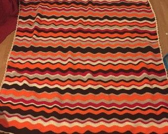 Crochet blanket handmade.