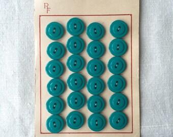 Vintage Teal Buttons