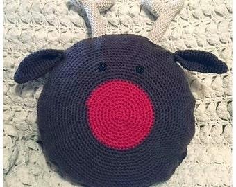 Crochet Rudolph Reindeer Pillow Pattern
