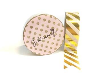 Gold Foil Striped Washi Tape