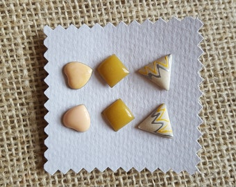 Geometric Retro Vintage Stud Earrings