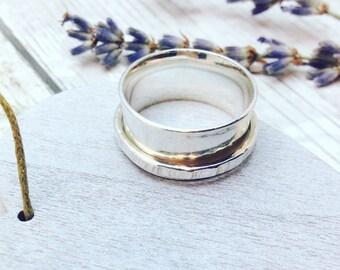 Spinner Ring, Silver Spinner Ring, Spinning Ring, Silver Spinning Ring, Sterling Silver Spinning Ring, Sterling Silver Spinner Ring