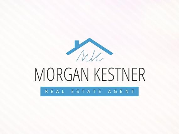 Elegant real estate agent logo premade real by abeillethemes for Modern homes estate agents