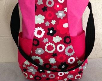 Hot Pink Daisy Bag
