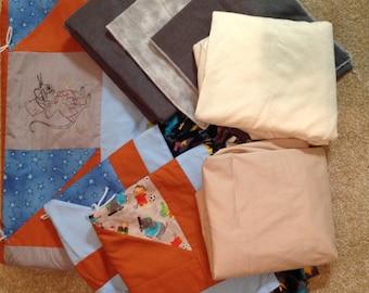 Homemade Baby Blanket Set// Dumbo// Boy in Grey & Blue