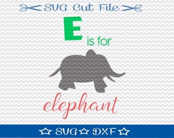 Elephant  SVG /  Cut File for Silhouette or Cricut / SVG File for Kids / Animal SVG