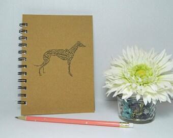 Greyhound work art notebook/journal