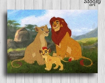 Lion king poster etsy - Kion le roi lion ...