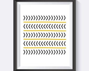 Arrows, Wall Art, Cute Art, Pretty, Happy, Love, Gold Digital Print Wall Art