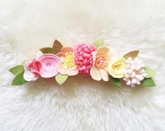 Felt Flower crown // Sunset Headband // Baker Blossoms
