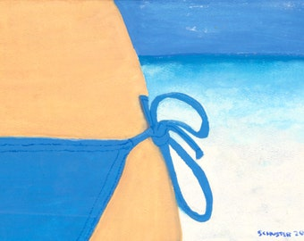 Blue bikini-- Print