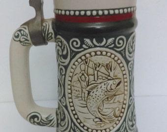 German beer mug  ceramic By Avon mug Vintage mug Gift for her or him Collections