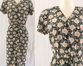 1980's does 1940's floral dress