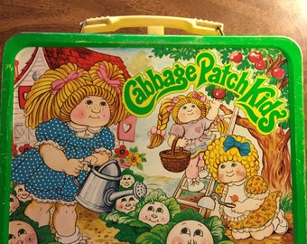 Vintage metal Cabbage Patch Kids lunchbox