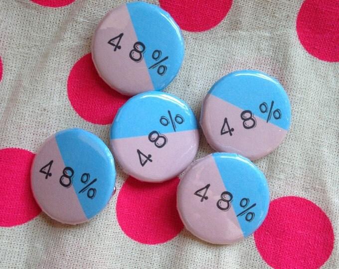 48% pin badge
