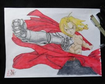 Illustration Original Fullmetal Alchemist to the felts format A4