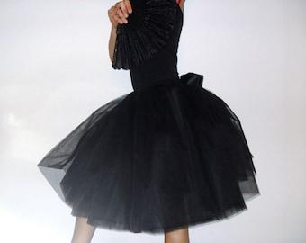 Tulle petticoat Black 55 cm skirt