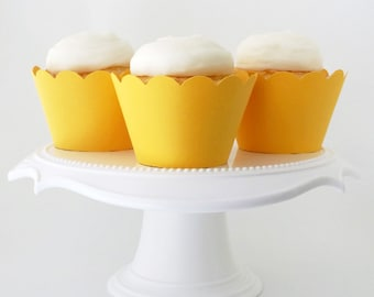 Set of 12 – Goldenrod Yellow Cupcake Wrappers – Standard Sized