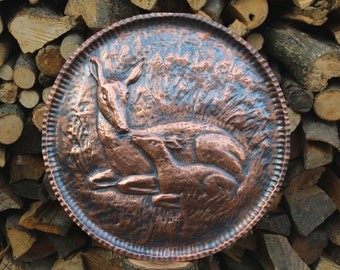 Deer deer Bambi handmade copper picture animals