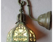 A1017 Miller Lamp Co. Slag Glass Wall Sconce