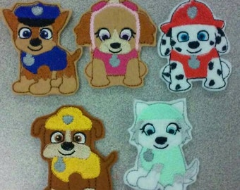 Dog rescuers finger puppets paw patrol inspiered