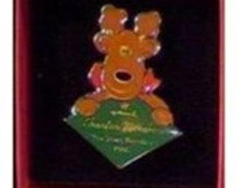 Vintage Hallmark Hallmark Collector's Club Charter Member Lapel Pin 1987-1996 Rodney Reindeer QXC4184