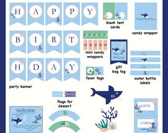 Underwater Birthday Party Printables