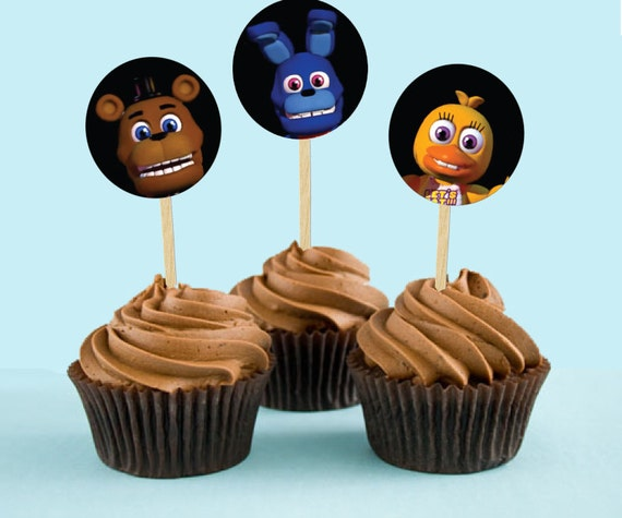 Five Nights at Freddy's Printable Cupcake by MyPartyHelpers